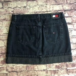 Vintage Tommy Hilfiger cuffed denim miniskirt 10